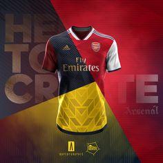 Arsenal Kit, Arsenal Jersey, Arsenal Wallpapers, Sports Jersey Design, Lionel Messi Wallpapers, Soccer Ball, Tee Shirts, Behance, Football