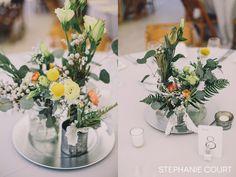 spring floral wedding centerpiece | Stephanie Court Photography
