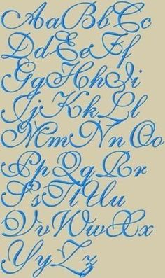 Ava Maria Embroidery Font 3 Sizes. $2.95, via Etsy.