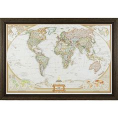 Craig Frames Wayfarer Executive World Push Pin Travel Map >>> Check out this great product.(It is Amazon affiliate link) #unitedstates