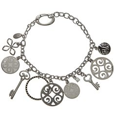 Fossil Jewelry Women's Stainless Steel Charm Bracelet | Overstock.com