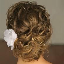 curly updo that isn't too overpowering. love it!