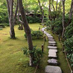 Каменная дорожка в саду