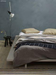 Vakker med kalkmaling på soverommet
