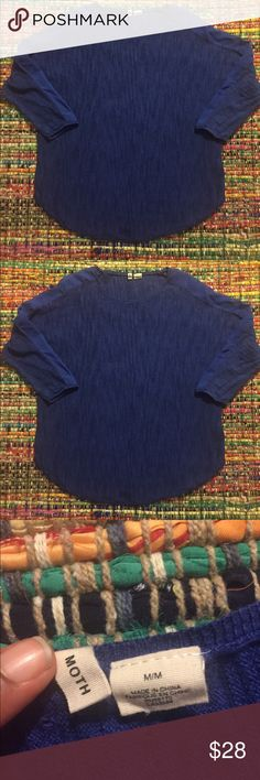 Anthropologie Moth Blue Top In Great Condition/ 68% Cotton 32% Viscose Price Firm Anthropologie Tops Blouses