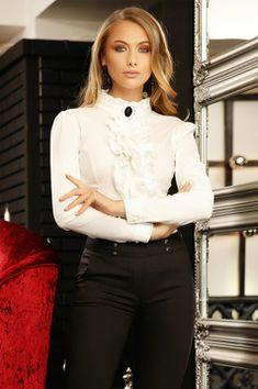 Camasi Dama - Colectie Noua in fiecare Vineri - StarShinerS Ruffle Blouse, Long Sleeve, Sleeves, Shirts, Shopping, Tops, Women, Fashion, Moda