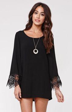Reverse Bell Sleeve Hippie Dress