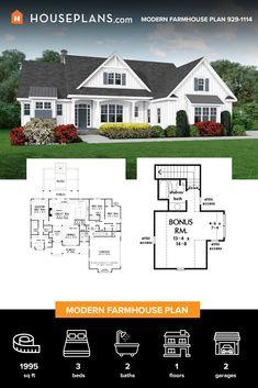 Cottage House Plans, Craftsman House Plans, New House Plans, Modern House Plans, Cottage Living, Small House Plans, Cottage Homes, House Floor Plans, Living Room