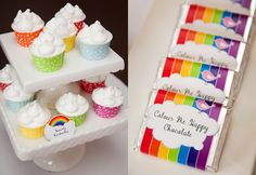 These are a wonderful idea for a rainbow party!