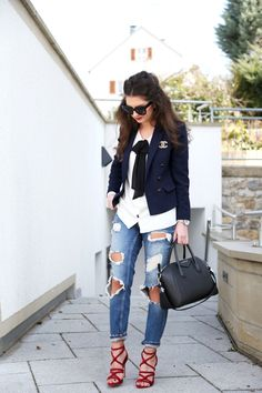 outfit-fashionhippieloves-chanel-brooch-pin-silver-topshop-blazer-zara-total-look