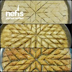 Mince Baklava with Walnuts (With Tricks - Illustrated - Must Try) - Delicious Recipes Turkish Baklava, Turkish Sweets, Red Lentil Soup, Cheesecake Desserts, Arabic Food, Turkish Recipes, Food Illustrations, Beautiful Cakes, Snacks