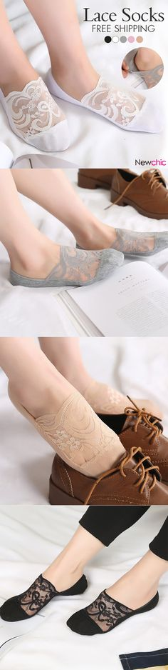 [$ 4.15  Special 3 / US$11.76]  Fashion Women's Lace Antiskid Invisible Boat Sock Summer Thin Breathable Short Ankle Socks