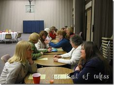 speed dating questions for relief society