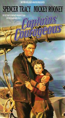Captains Courageous //   Directed by	Victor Fleming  Written by	Rudyard Kipling (novel)  Starring	Freddie Bartholomew  Spencer Tracy  Studio	Metro-Goldwyn-Mayer  Distributed by	Metro-Goldwyn-Mayer  Release date(s)	May 11, 1937