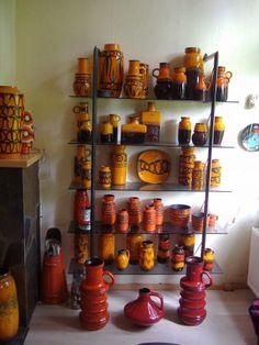 Retro orange ceramics