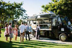Laura Goldenberger On Rustic Wedding- Food Truck Wedding Catering Food Trucks, Food Truck Events, Food Truck Catering, Lunch Catering, Catering Buffet, Rustic Wedding Foods, Food Truck Wedding, Wedding Games, Wedding Planning