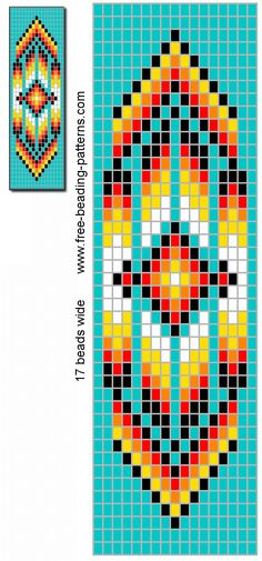 Bilderesultat for Native American Loom Beading Patterns Free Loom Bracelet Patterns, Bead Loom Bracelets, Bead Loom Patterns, Beaded Jewelry Patterns, Peyote Patterns, Beading Jewelry, Stitch Patterns, Weaving Patterns, Seed Bead Tutorials