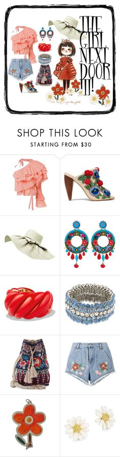 """THE GIRL NEXT DOOR III!"" by hrhjustcuz ❤ liked on Polyvore featuring Rosie Assoulin, Tory Burch, Ayala Bar, David Yurman, Carolee, Johnny Was, House of Holland and Kate Spade"