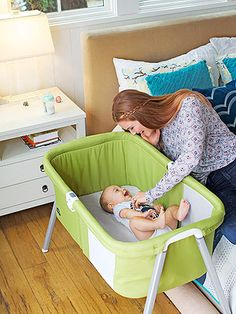 American Baby editors show the best of the market's latest products for mom and baby. Chicco's LullaGo portable bassinet $100.