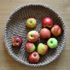 Crocheted fruit basket by Naturkinder