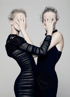 Daria Strokous and Sasha Luss for V Magazine