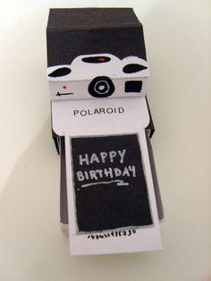 How to make a polaroid camera pop up card card me - Polaroid karten ...