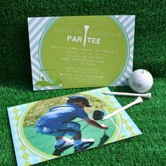 Preppy Golf Birthday Party Printable Invitation-$18
