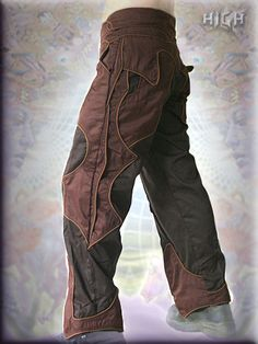 brown brun braun bruin tribal burning man steampunk trouser hose broeken
