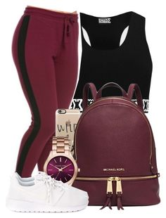 """"""" I need a one dance, got a Hennessy in my hand """" by mindlesspolyvore ❤ liked on Polyvore featuring Casetify, Michael Kors and NIKE"""