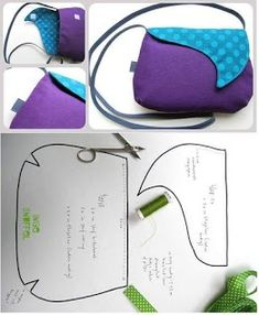 5 Moldes de Bolsas para imprimir Bolsas 5 Molds of Bags for printing Bags Bag Patterns To Sew, Sewing Patterns, Sew Together Bag, Handbag Tutorial, Baby Diy Projects, Leather Bag Pattern, Diy Bags Purses, Fabric Bags, Printed Bags