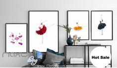Red Daisy Black Rose Sunflower Canvas Prints Wall Decals Art Decor Unframed IDCCV-BO-000225