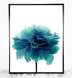 Lovely Teal Flower Art to Turn into a Poster or Print on Cards, Mugs, Pillows etc. Cost-Effective, Easy & Beautiful     After checkout you will be directed to a page to download your files instantly. They will also be accessible at all times by viewing your purchase page.   ** INCLUDED FILES **  0.
