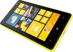 Yellow Nokia Lumia 820 side front