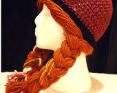 Anna Crochet Hat, Princess Anna Crochet Hat, Crochet Winter Hat, Anna Wig Hat, Character Hat, Handmade Crochet Hat