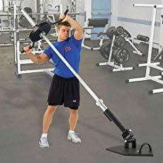 """Power Systems 60054 / 2 """"L x W Massive Steel Landmine – Schwarz - Famous Last Words Fitness Gym, Planet Fitness Workout, Fitness Gadgets, Training Equipment, No Equipment Workout, Crossfit Equipment, Bodybuilder, T Bar Row, Gym Room"""