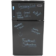 mini refrigerator that you can write passive-aggressive notes to your roommate on, or use responsibly for grocery lists. Makeup-cleaning machines and matcha Kit Kats?Makeup-cleaning machines and matcha Kit Kats? Matcha Kit Kat, Compact Refrigerator Freezer, Cubic Foot, Thing 1, Passive Aggressive, Mini Fridge, Wire Shelving, Break Room, Energy Star