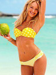 Yellow polka dot bikini top - I like the mismatch...Use the sites bikini match up thing. create your own mismatched bikini.