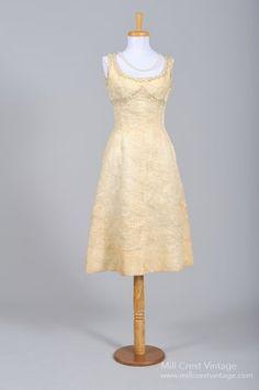 1940 Organza Cocktail Vintage Wedding Dress