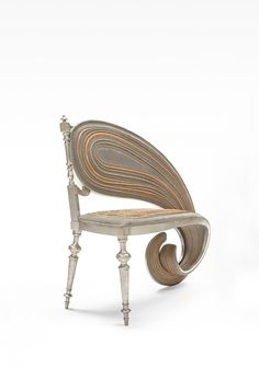 Stretched like a digital glitch, these distorted chairs by Dutch artist Sebastian Brajkovic appear more like a product of Photoshop than a physical object. The Paris-based sculptor has been turning heads (and twisting necks) at art museums and galleries for over a decade with his ongoing Lathe serie