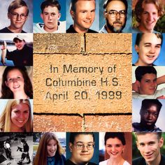 Remembering those that died 16 years ago today. K Pop, Columbine High School Massacre, Zero Hour, Innocence Lost, Senior Student, Ap Language, Natural Born Killers, Natural Selection, School Shootings