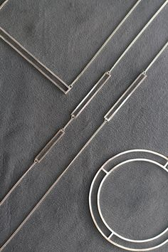 Hania Jewellery: I like the simple clean shapes in these pieces, and how the solids work well with the change despite the difference in width and rigidity