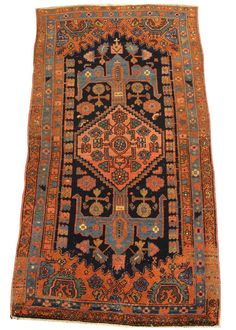 Khamseh Hamadan Hand knotted in Iran Circa 1935 100% wool Blend of natural and synthetic dyes