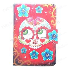 Sugar Skull Universal Leather Case for Amazon Fire HD 7 / Samsung Galaxy Tab 4 7.0 T230, Size: 20 x 13cm