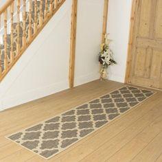 Tweed Hallway Carpet Runner Quatrefoil