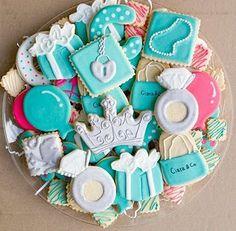 Tiffany Theme Sweet 16 Cookies- Kookie Kreations by Kim my-stuff