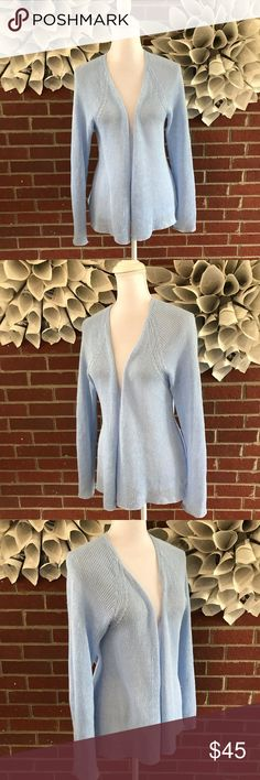 Eileen Fisher LS Open Front Sweater Cardigan Linen !Please see photos for all details and measure! This item comes from a smoke free home!! No rips, tears holes or stains to note!! Fast shipping!! Buy confidently!! THANKYOU for looking!! Happy shopping Eileen Fisher Sweaters Cardigans