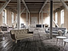 Interior stylist Lene Rønfeldt is behind these style settings for the Danish sofa brand Sofakompagniet. She has used House Doctor products t. Nordic Design, Diy Design, Danish Sofa, Light And Space, Interior Decorating, Interior Design, Interior Stylist, Loft Spaces, House Doctor