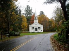 Vermont church, fall 2005