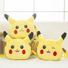 Candice guo! super cute plush toy yellow Pikachu messenger bag coin purse storage bag kids girls birthday Christmas gift 1pc