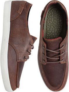 Reef leather shoe for him. http://www.swell.com/New-Arrivals-Mens/REEF-DECKHAND-2-LEATHER-SHOE?cs=BR
